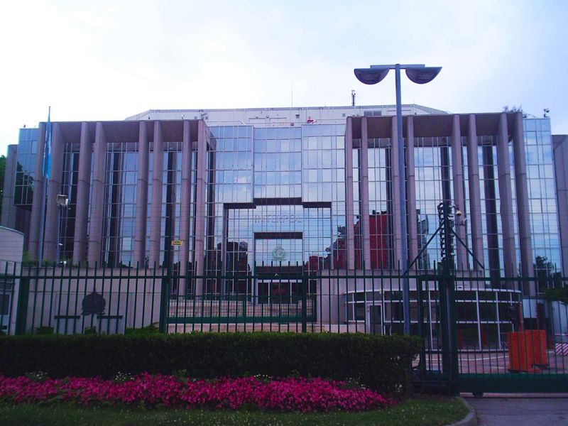 Le siège d'Interpol en France.